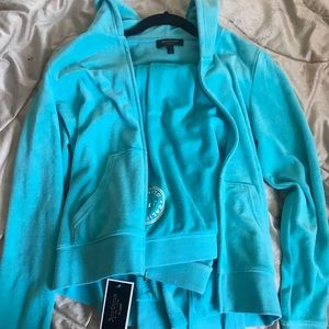 Baby blue juicy couture velour sweatsuit